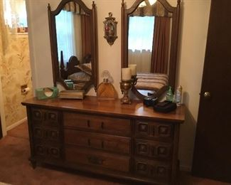 Dresser with matching mirrors