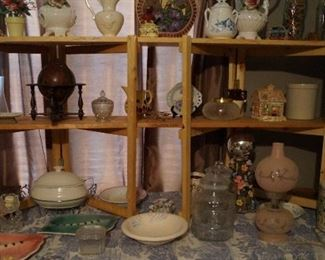 collectibles, dishes, decor