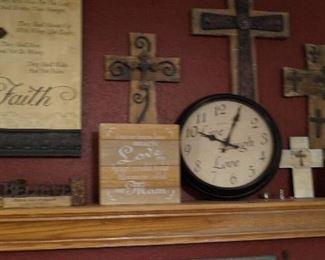 clocks, Crosses, wall decor