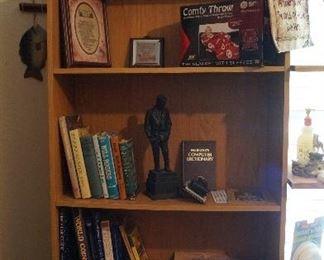bookcase, Coke Trays, books, decor
