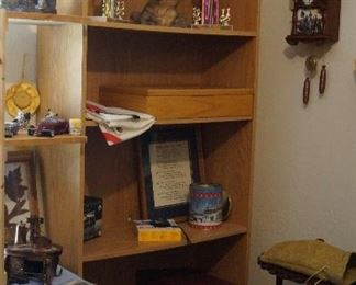 Bookcase, Civil war clock,