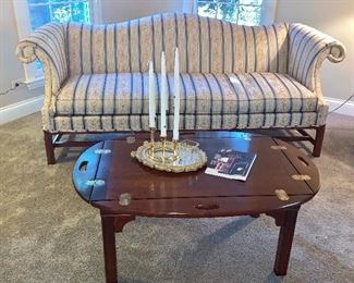 Gorgeous Sheraton Style, Camelback Sofa (furniture is in perfect condition)