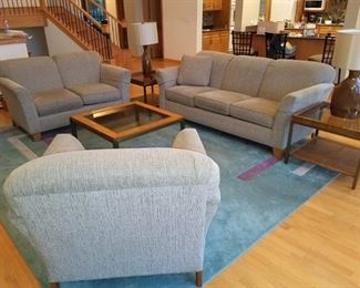 Sofa, loveseat and matching chair set