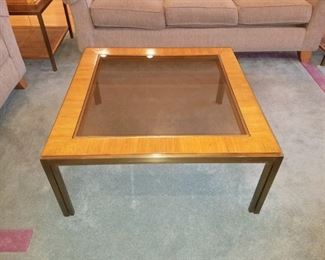 Coffee table set (with smoked glass) Drexel Heritage