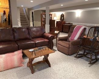 Side table, recliner chair, rocking chair