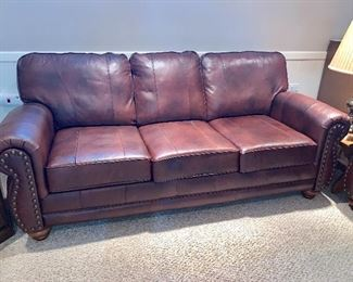 Like new 2 matching  Faux  leather couches - in perfect condition