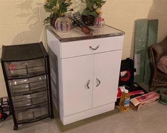 Vintage mid-century modern Metal Kitchen Cabinet