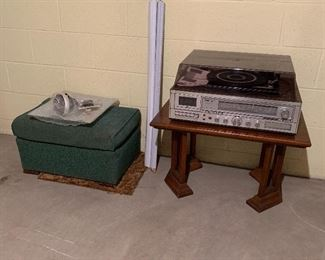 Vintage 8-Track and Record Player