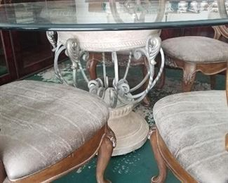 another angle of the glass table. $1,000 - (included with the glass dining table)