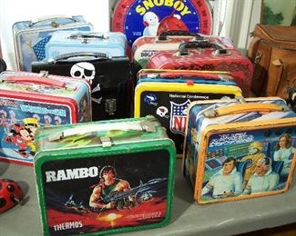 Vintage tin lunchboxes