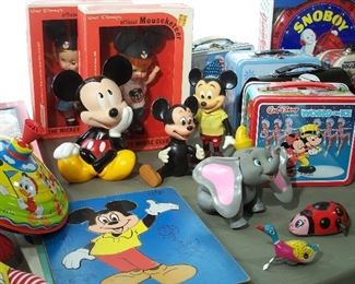 Disney toys and memorabilia