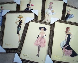 Signed Robert Best numbered Barbie fashion prints