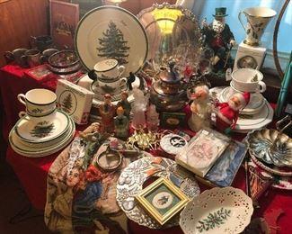 Spode Christmas Dishes and vintage Christmas items