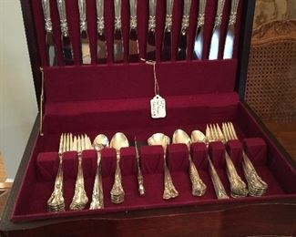 Awesome set of Gotham Sterling Flatware, has many service pieces, too.