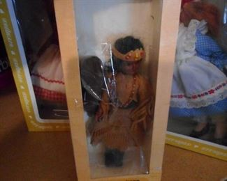 Apache Indian Doll with Baby, in Original Box