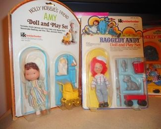 Holly Hobbie  and Friend, Raggedy Andy Play Set NRFP