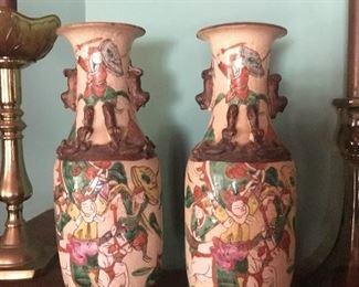 Pair Chinese Vases