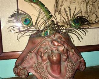 P. Phillipe Bronze Art Nouveau Vase