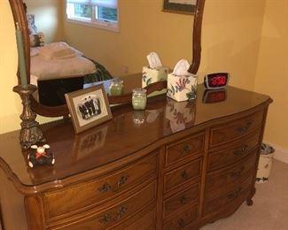 Cherry Dixie furniture dresser with mirror