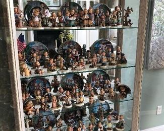 Huge Hummel collection for sale -curio cabinet not  for sale