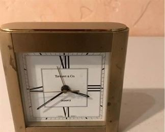 Brass Plated Tiffany and Co Clock