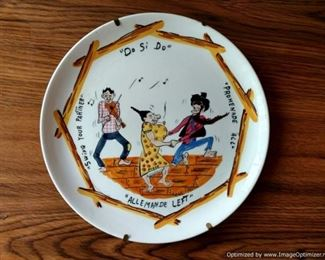 """Hilarious """"Do Si Do"""" Made in Italy plate"""