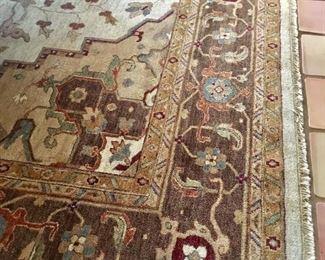 """11'8"""" by 14' wool rug"""