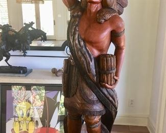 Wooden cigar store Indian (not an old one)
