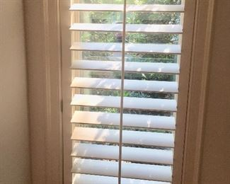 Various sizes of plantation shutters