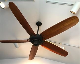 There are many ceiling fans.