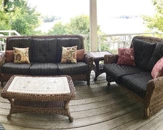 Rattan porch furniture