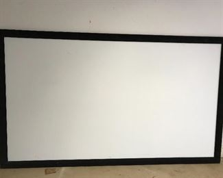 """Large (9' by 5'6"""")  projection screen"""