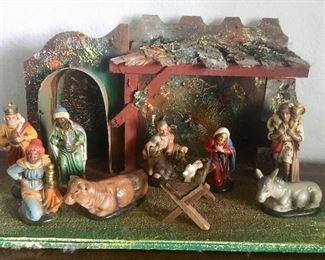 Vintage Western Germany nativity set
