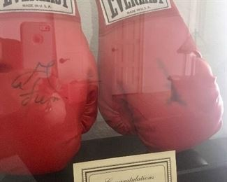 Authenticated George Foreman & Muhammad Ali autographed boxing gloves