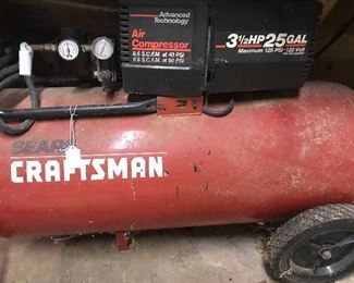 Craftsman 25 gallon air compressor