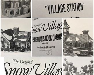 A nice selection of of 'The original Snow Village'