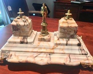 Marble desk set
