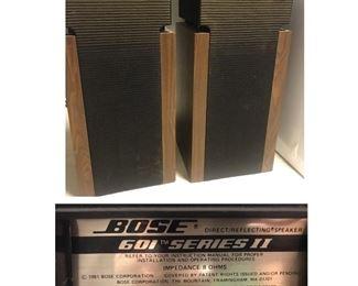 Vintage Bose 601 series II speakers