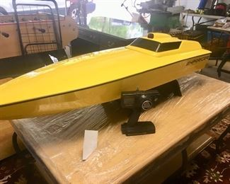 5 ft. long remote controlled boat