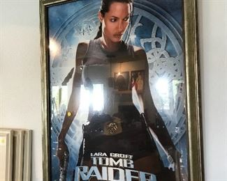 Autographed by Angelina Jolie Tomb Raider movie poster