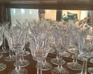 "Waterford ""Lismore"" wine glasses"