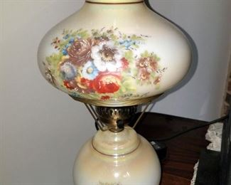 Gone with the wind painted lamp
