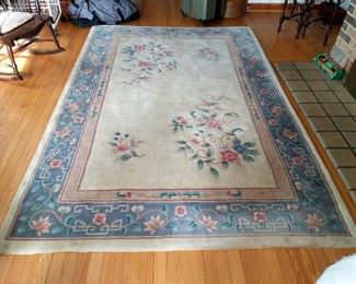 approx. 5x7 floor rug. (large matching one in diningroom also for sale)