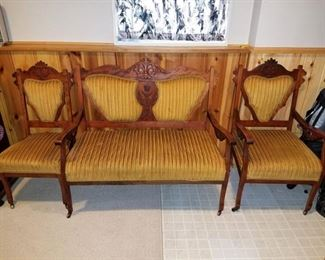 Eastlake settee and two matching chairs...gorgeous and in great condition! $225 all 3 pieces