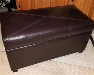 Faux leather ottoman, trunk with storage $35
