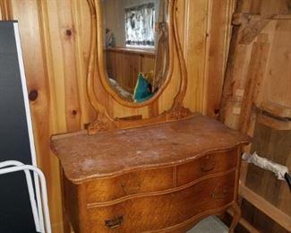Antique dresser with mirror $100