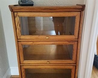 Small bookcase with glass doors (barrister style) $60