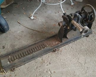 Vintage iron lathe