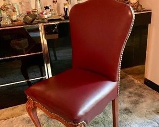 Vintage, Leather Ladies Chair