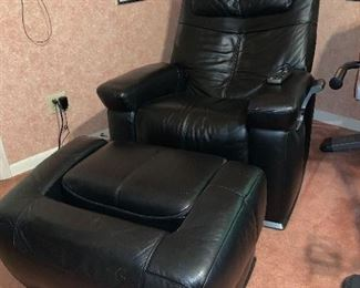 Massage Chair-black leather